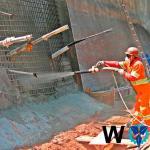 Execução de concreto projetado