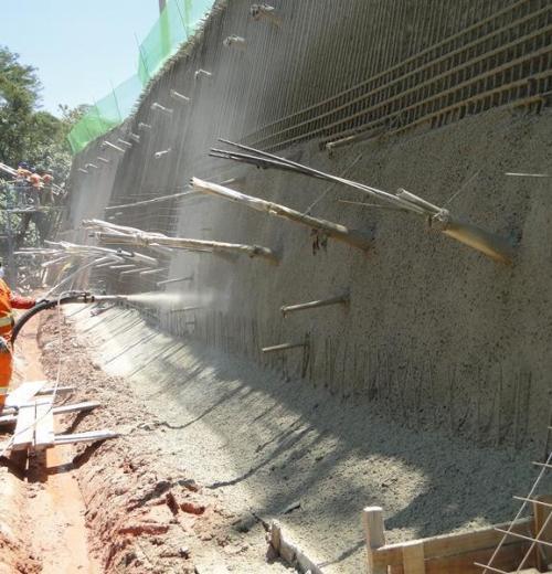 Concreto Projetado (via seca e via úmida)