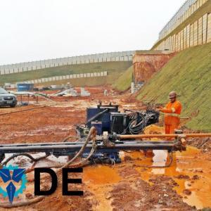Execução de dreno sub horizontal profundo